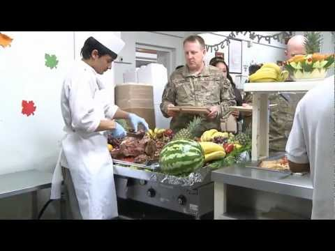 Thanksgiving Dinner in Camp Eggers, Afghanistan 2011