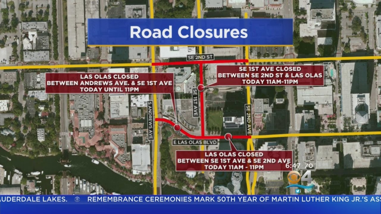 Road closures for mercedes benz ft lauderdale corporate for Mercedes benz corporate run 2018