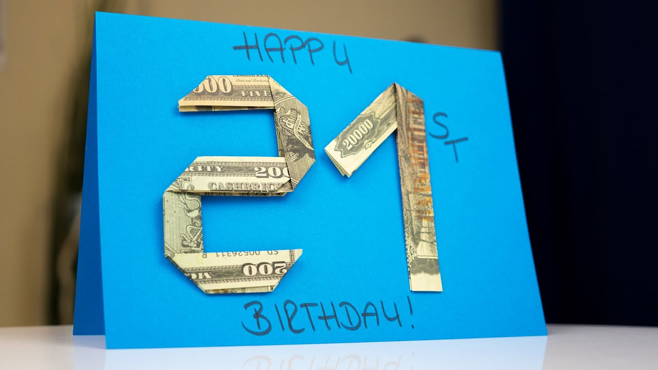 Handmade BIRTHDAY Greeting Card DIY Money Holder Making