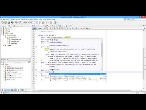 #8 TCP Simple Chat Program Multi Threads Using Java Part 2