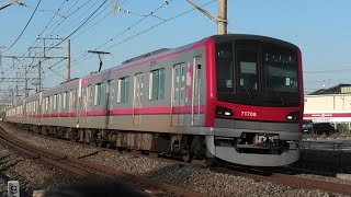 東武70000系70000型71708F 普通中目黒行 杉戸高野台~幸手通過【4K】