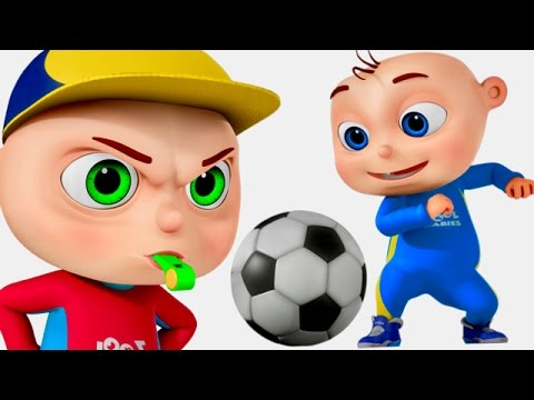 Zool Babies Playing Soccer  Five Little Babies Series  Cartoon Animation For Children