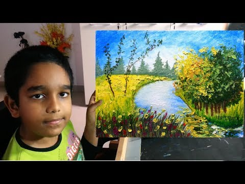 Oil Pastel Painting For Absolute Beginners By my Son Hrithik