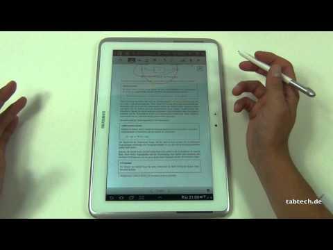 Samsung Galaxy Note 10.1 Studenten Special - PDF bearbeiten, Handschrifterkennung, ...