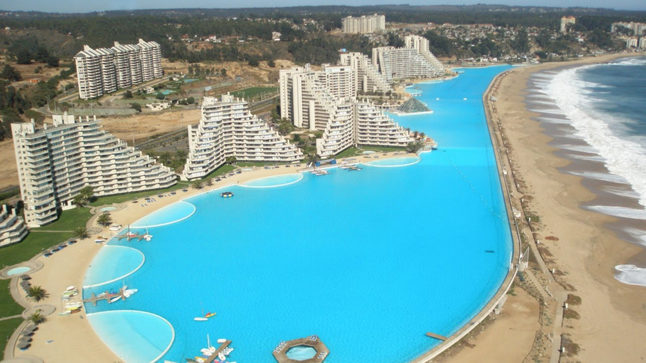 world u0027s largest outdoor pool san alfonso del mar resort chile