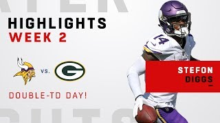 Stefon Diggs' Double-TD Day vs. Green Bay!