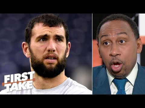 Stephen A. Reacts To Andrew Luck's Sudden Retirement From The NFL   First Take
