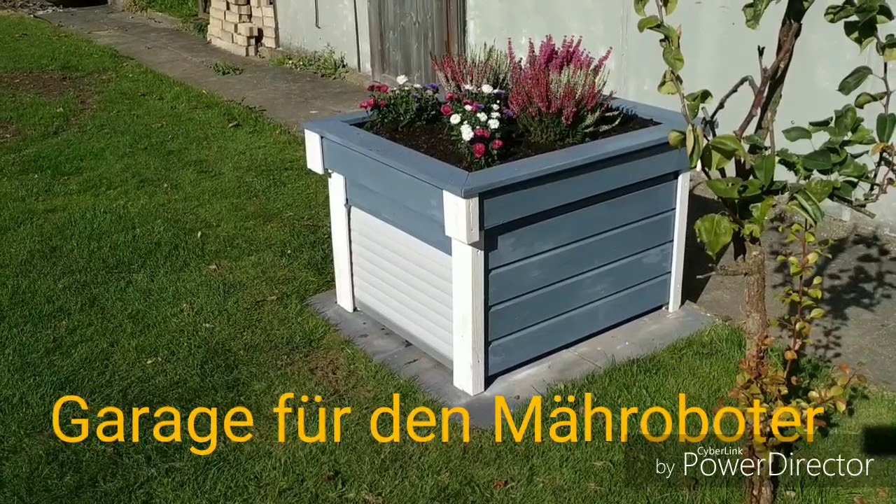 Garage Fur Den Mahroboter Rasen Roboter Mit Rolltor Youtube