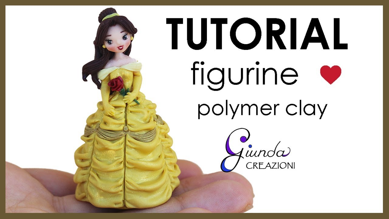 ENG] Belle polymer clay figurine / cake topper Tutorial from Beauty ...