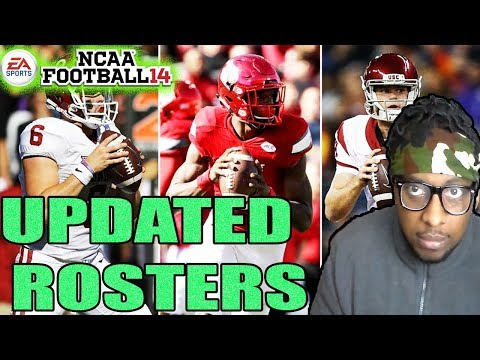2017-2018 ROSTERS FOR NCAA FOOTBALL 14 For XBOX 360 & PS3