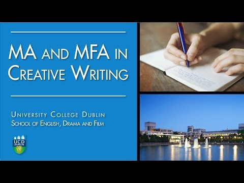 Masters In Creative Writing At UCD