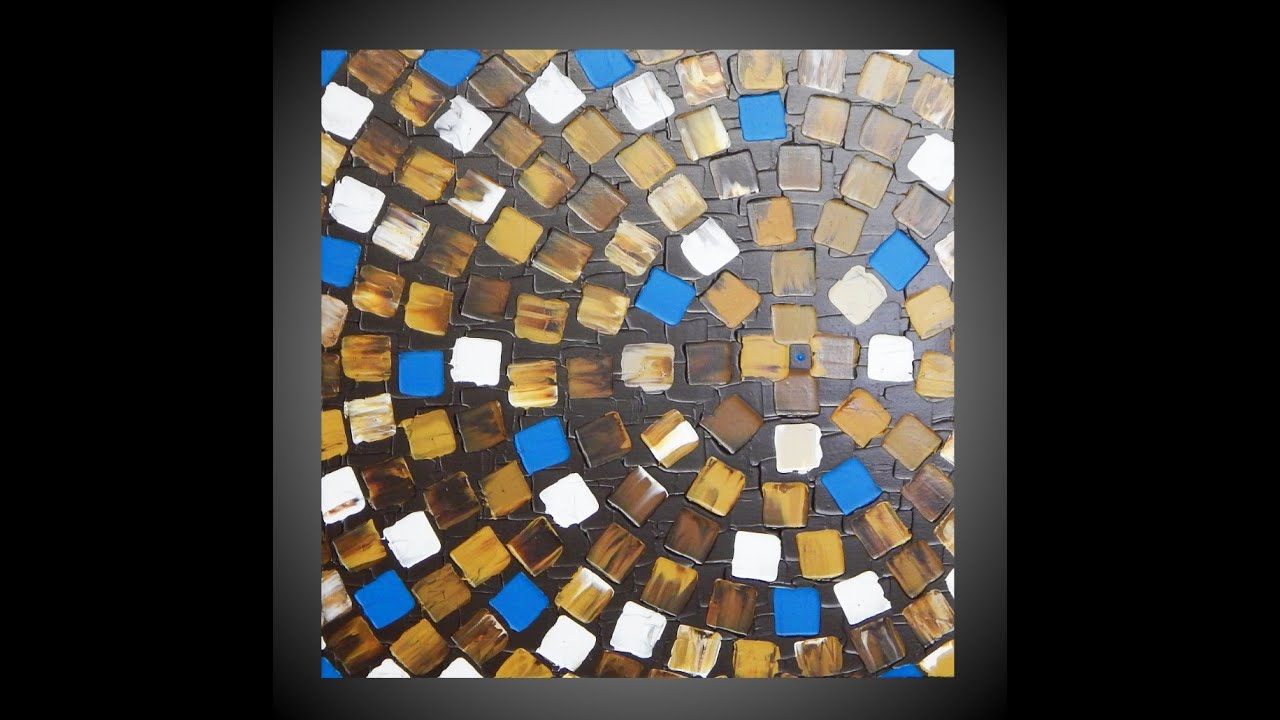Abstract acrylic paintings squares metallic paint for Metallic paint artwork