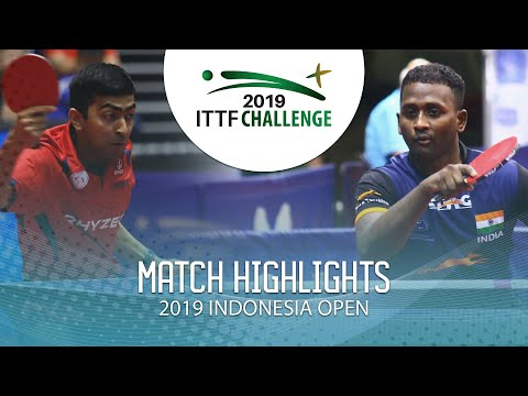 Desai Harmeet Vs Anthony Amalraj | 2019 ITTF Indonesia Open Highlights (Final)