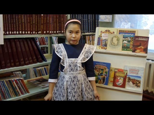 Изображение предпросмотра прочтения – СарданаПухова читает отрывок изпроизведения «Снежинка» К.Д.Бальмонта