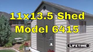 Hillcrest Lifetime Sheds - 6415 11 X 13.5 Foot Outdoor Storage Shed