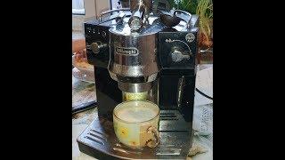 Кофеварка DeLonghi EC 820 b/обзор кофеварки рожкового типа