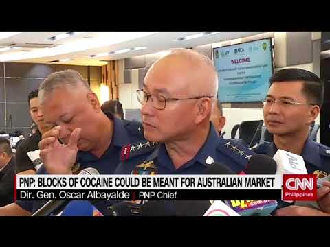 PNP: Blocks of cocaine could be meant for Australian market