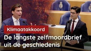 Baudet vs Jetten: Klimaatakkoord langste zelfmoordbrief uit de geschiedenis
