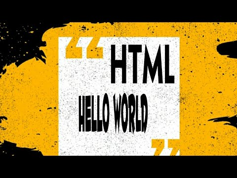 HTML | MY FIRST WEB PAGE | HELLO WORLD | SHORTCUT
