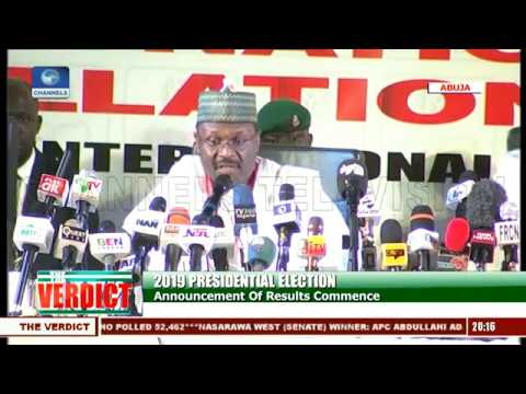 2019 Presidential Election: INEC Announces Ondo Results |The Verdict|
