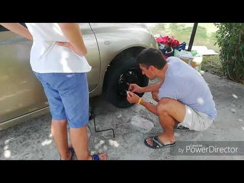 Montage of Spray Painting the Wheels of a Car