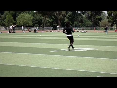 CFL Prospect WR Donald Fusilier @ Hamilton Tiger-Cats Tryout @ College of the Canyons on 05_12_2012