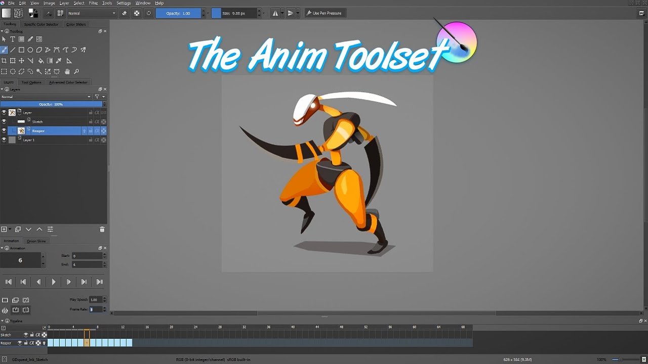 Krita Animation Tutorial: How To Use The Animation Tools