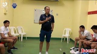 ลุงเนวิน และโค้ช พูดกับนักเตะหลังจบเกม (FA-SF) ราชบุรี เอฟซี 2-1 บุรีรัมย์ ยูไนเต็ด