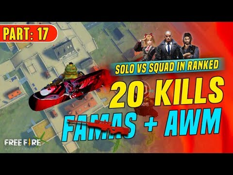 Famas+AWM 20 Kills Solo Vs Squad Gameplay - Garena Free Fire- Total Gaming