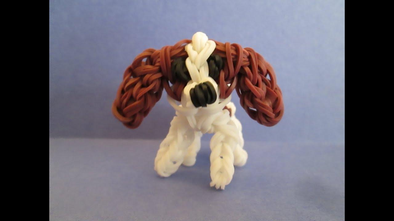Rainbow Loom Cavalier King Charles Spaniel Dog Or Puppy Charm 3d  Youtube