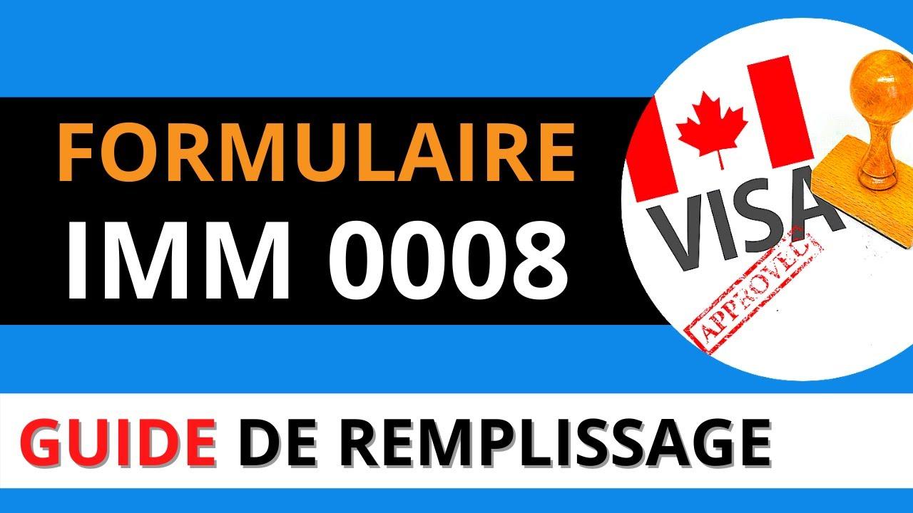 Download FORMULAIRE IMMIGRATION CANADA IMM 0008 -  TUTORIEL IMM0008 & GUIDE DE REMPLISSAGE 2021