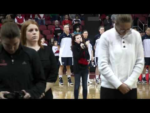 Hannah Jones sings National Anthem