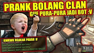 PRANK BOLANG CLAN + PURA2 JADI BOT ?! KWKWK NGAKAK PARAH - POINT BLANK INDONESIA - yt to mp4