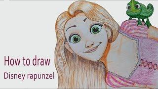 How to draw  Disney rapunzel step by step