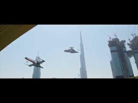 Top Of The World: Exclusive: Star Wars in DUBAI Burj Khalifa 2017 !
