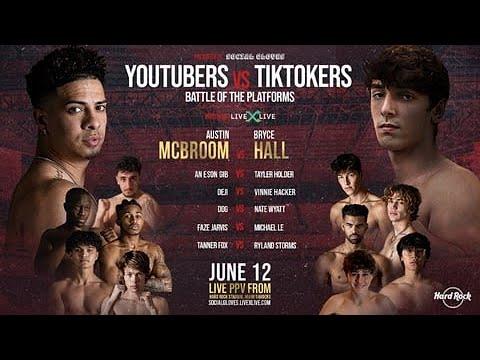 UFC FIGHTERS YOUTUBE VS TIKTOK LIVE FULL FIGHT :]