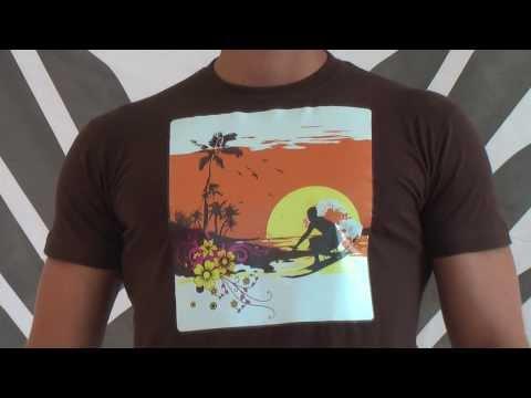 Schoko Braunes FancyBeast Surf Beach Shirt FB185