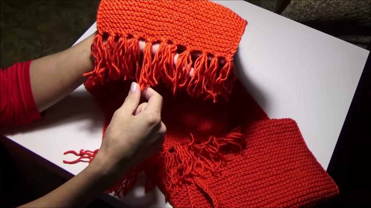 вязание спицамизакончила комплект шапку и шарф Youtube