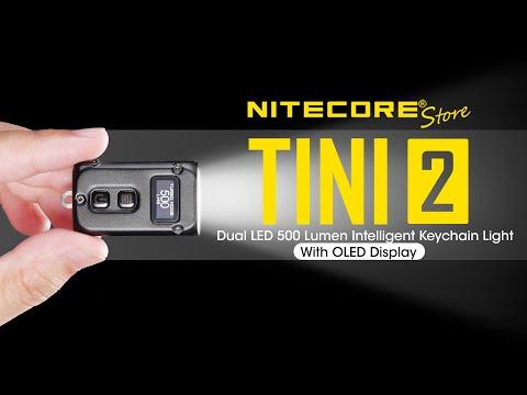 Nitecore TINI 2 - 500 Lumen USB-C Rechargeable Keychain Flashlight