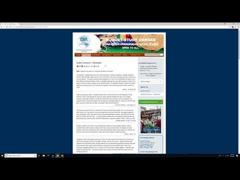 Study Abroad on a Budget - CSA