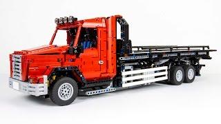 [MOC] LEGO® Technic Flatbed Tow Truck thumbnail