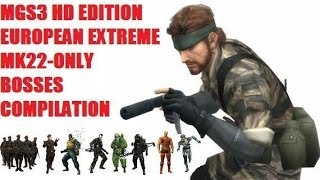 metal gear solid 3 hd bosses compilation mk22 only european extreme