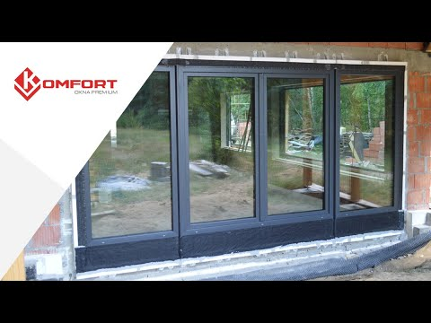 Ciepła Belka Montażowa - montaż drzwi balkonowych dwuskrzydłowych
