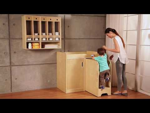 Wooden Nappy Change Storage Unit - EYP Direct