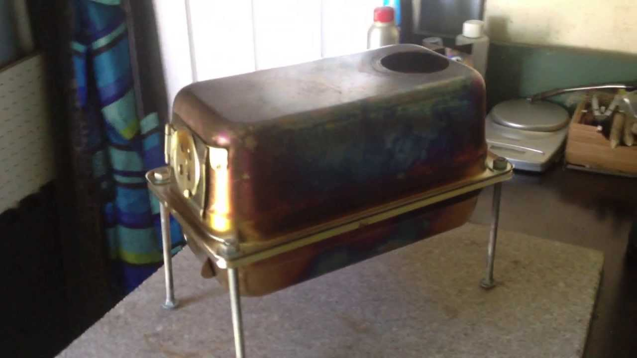& DIY tent stove/wood burning stove - YouTube