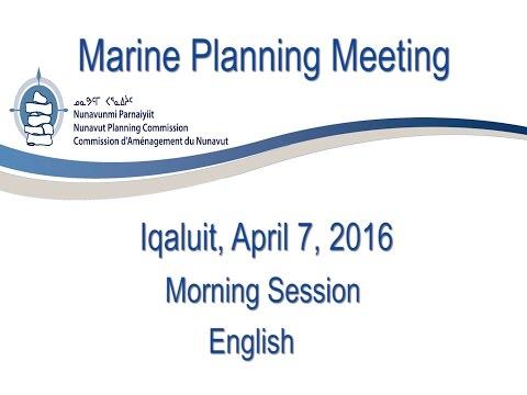 Marine Planning Morning Session English