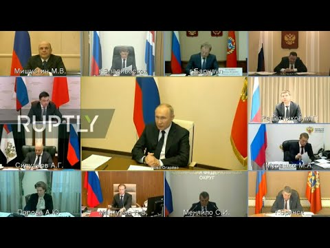 LIVE: Putin Opens Meeting On Coronavirus Situation In Russia (English)