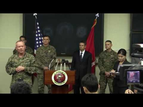Okinawa Area Coordinator Addresses the Media About MV-22 Incident