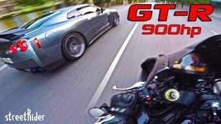 ВСТРЕТИЛ МЕЧТУ | Nissan GT-R (900hp) vs CBR1000RR (180hp)(, 2016-07-01T14:16:40.000Z)
