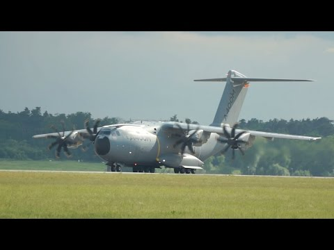 Airbus A400M Atlas Grizzly from Airbus Industries departure at ILA 2016 Berlin AirShow